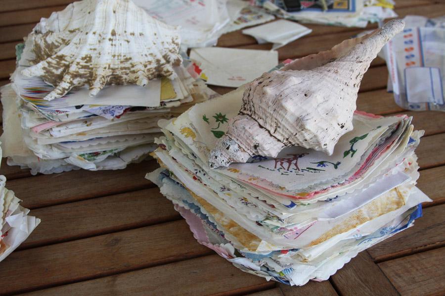 אוסף מפיות נוסטלגי