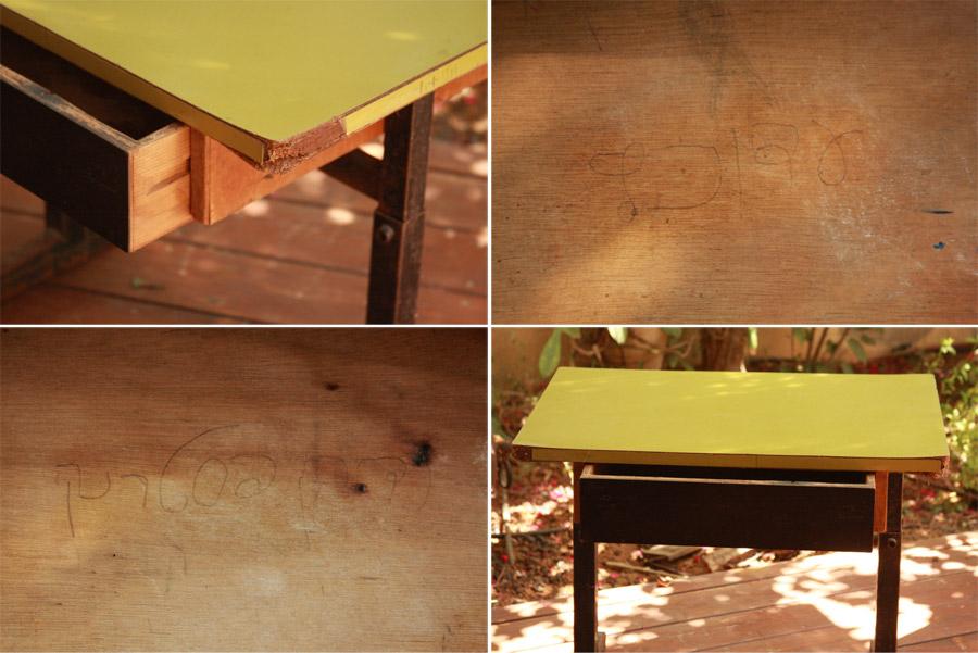 שיפוץ שולחן בית ספר | שולחן בית ספר לפני ואחרי שיפוץ | בלוג סימני דרך | naamasimanim.co.il
