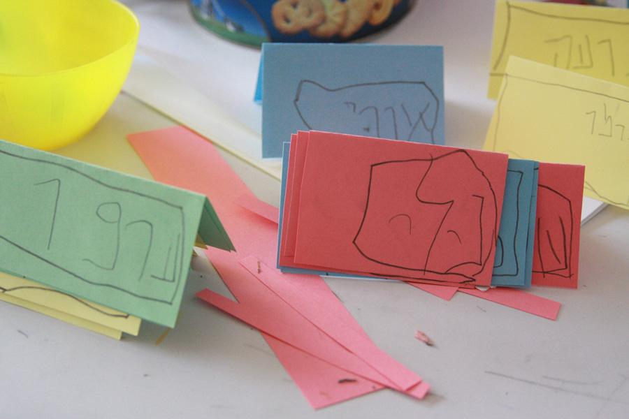 פתקי הושבה לחג | רעיון לפעילות לילדים | naamasimanim.co.il