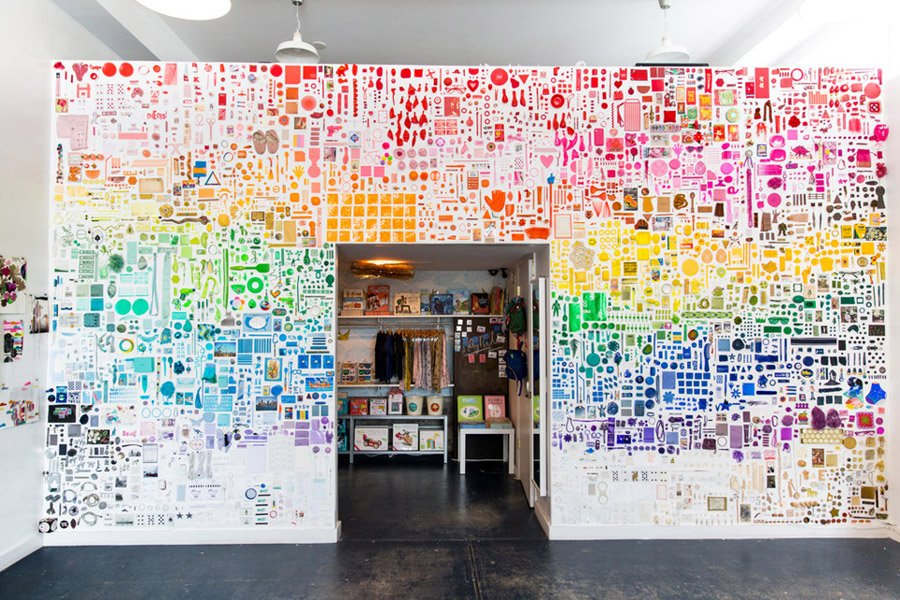 מיון לפי צבעים | art work by Chroma for Rare Device | בלוג סימני דרך | naamasimanim.co.il