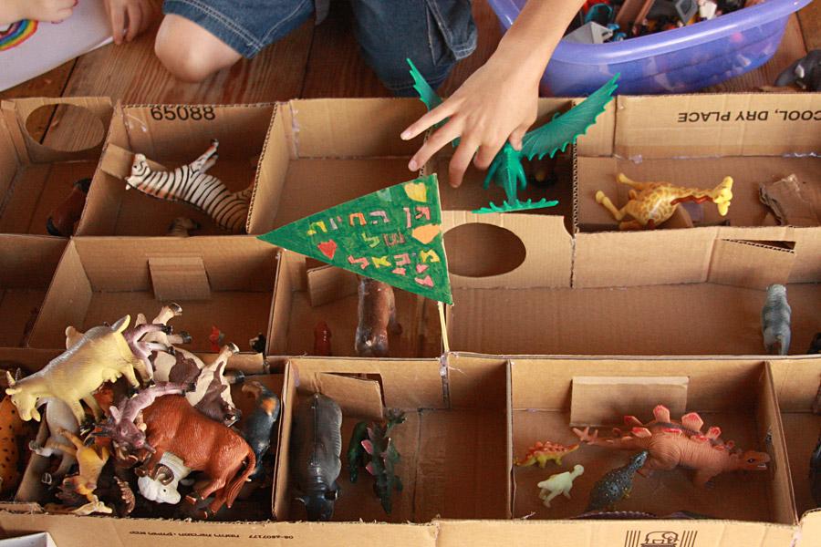 יצירה לחופש הגדול | יצירה מקרטון | גן חיות מקרטון | בלוג סימני דרך | naamasimanim.co.il