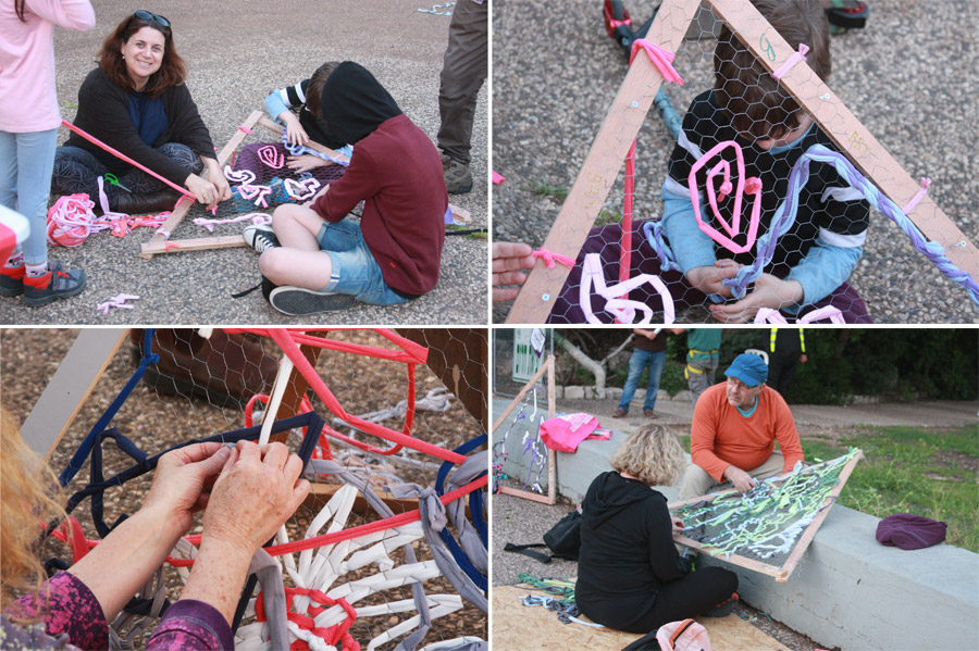 "https://naamasimanim.co.il ""הקליידוסקופ | קהילה יוצרת | פרויקט קהילתי יצירתי | פסטיבל שייח' אבריק | סריגה בחוטי טריקו | כיפה גאודוזית | אירוע יצירתי קהילתי | בלוג ""סימני דרך"
