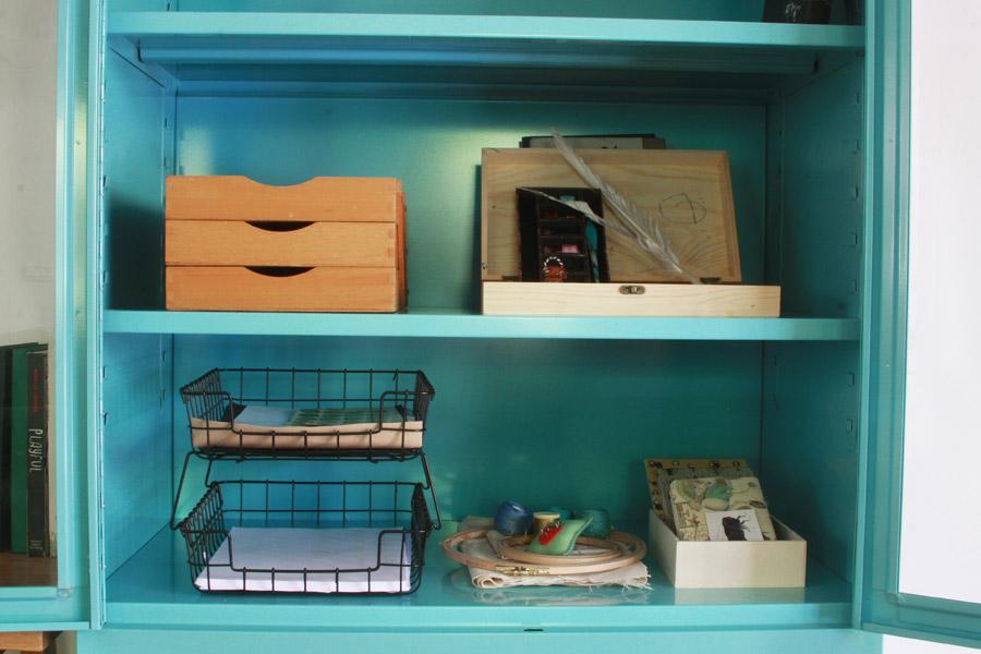 שיפוץ פינת עבודה לילדים | פינת עבודה ויצירה | ארון לאחסון חומרי אמנות | בלוג סימני דרך | naamasimanim.co.il