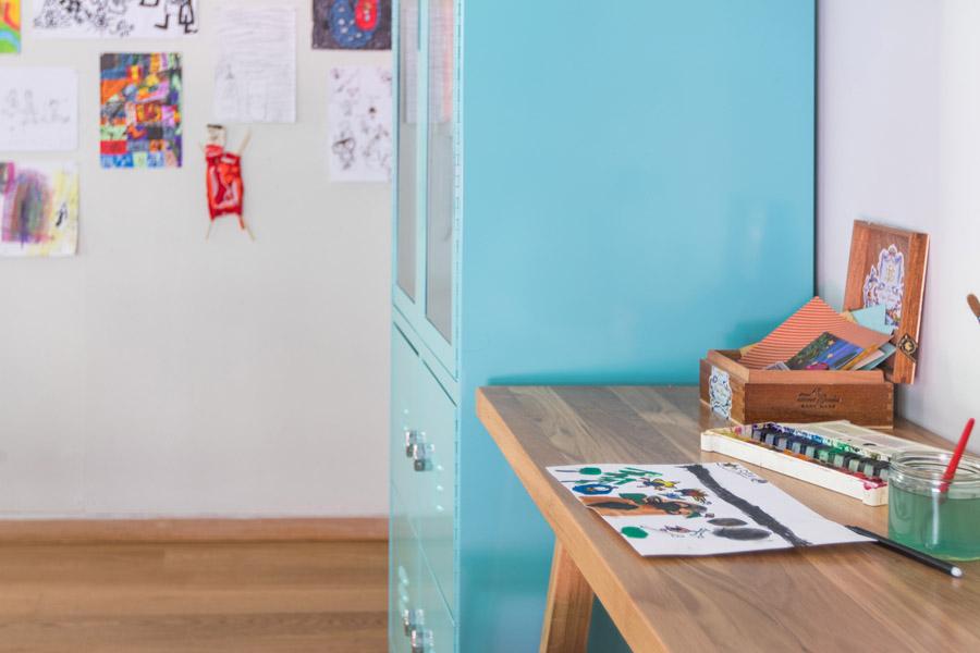 שיפוץ פינת עבודה לילדים | פינת עבודה ויצירה | פינה מעוצבת לילדים | בלוג סימני דרך | naamasimanim.co.il