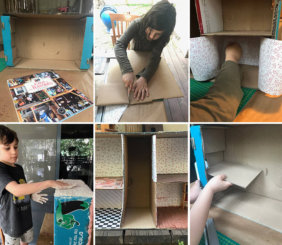פעילויות לילדים בתקופת הקורונה | יצירה עם ילדים | הכנת בית בובות לילדים מארגז ירקות | בניית בית בובות | איך בונים בית בובות | בית בובות מקרטון | ילדים יוצרים | הורות יצירתית |הבלוג ״סימני דרך״ | https://naamasimanim.co.il/