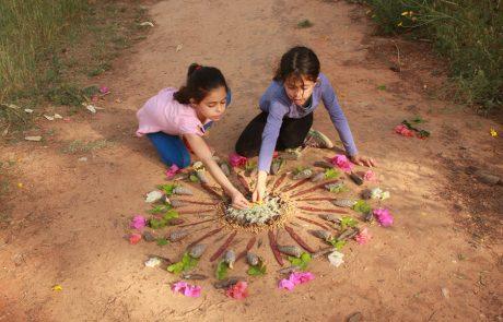 פעילות עם ילדים: מנדלה מחומרי טבע