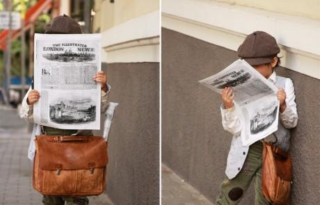 תחפושת: מוכר עיתונים של פעם