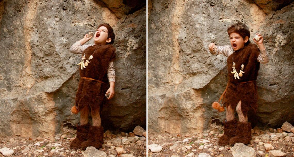 תחפושת: האדם הקדמון (והקבאב הרומני)