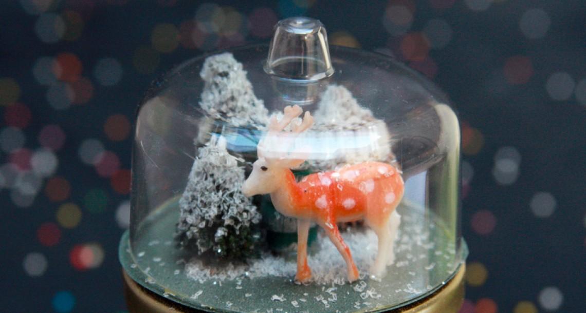משלוח מנות לפורים – snow globe בצנצנת