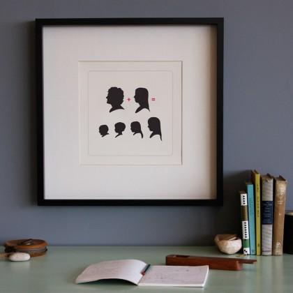 תמונת צלליות משפחתית