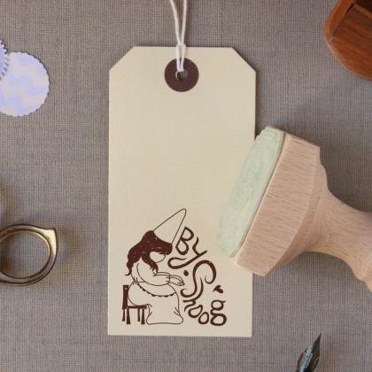 חותמת עץ עם הלוגו שלכם
